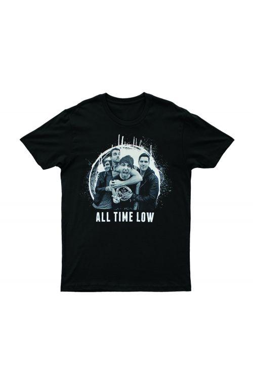 Circle Photo Black Tshirt by All Time Low
