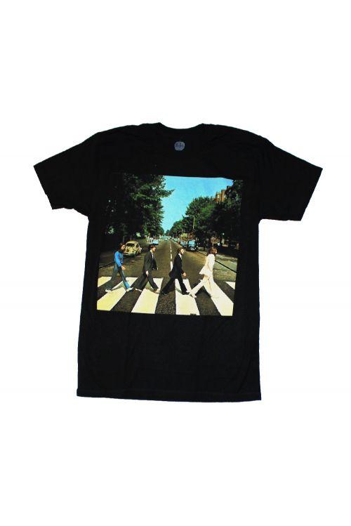 Abbey Road Brick Photo Black Tshirt by The Beatles