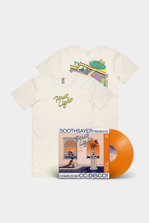 'FIRST LIGHT' VOL. II COMPILED BY CC:DISCO! VINYL, TEE AND STICKER BUNDLE by Soothsayer
