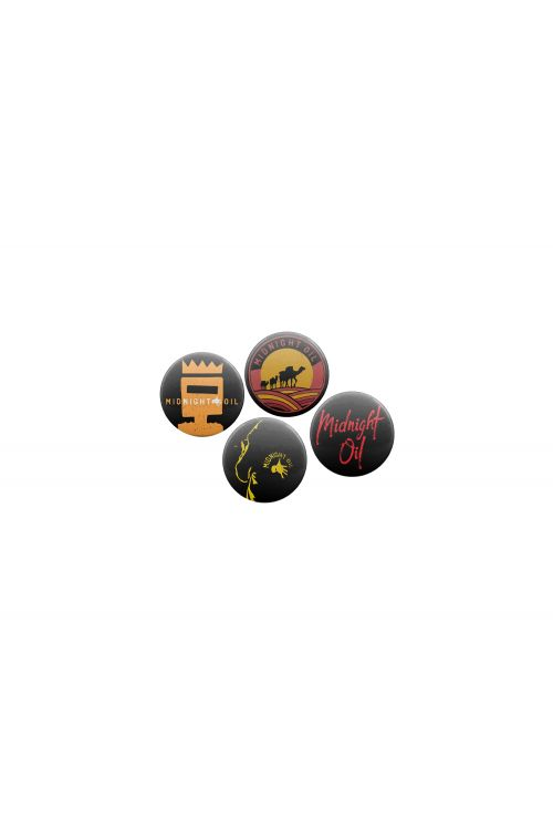 Badge Set Set of 4 by Midnight Oil
