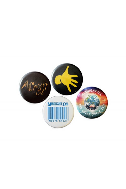 Badge Set (4) Great Circle Tour 2017 by Midnight Oil