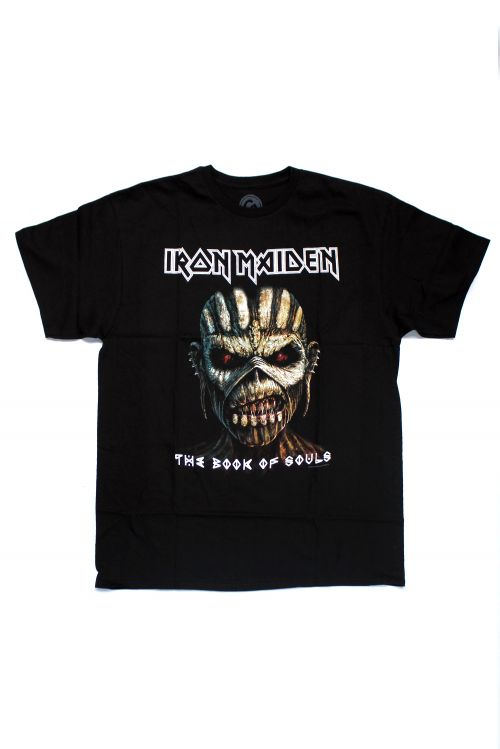 Book Of Souls Close Up Black Tshirt by Iron Maiden