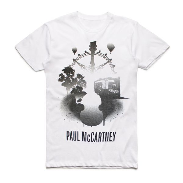 Melbourne Stencil White Tshirt