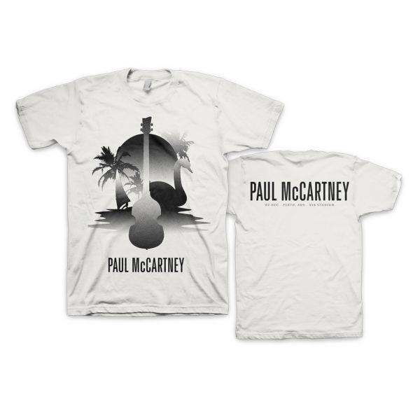 Perth Stencil White Tshirt One On One World Tour
